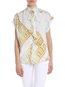 Versace - White shirt with Versace print
