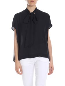 Liujo - Nude-effect fabric top in black