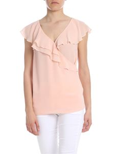 Liujo - Georgette top in peach pink