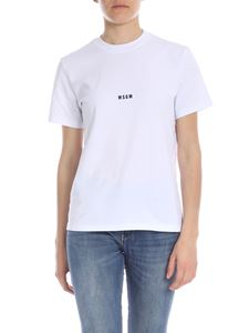 MSGM - White T-shirt with MSGM print