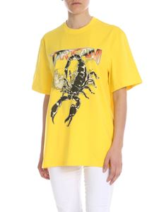 MSGM - T-shirt in yellow with Dream print