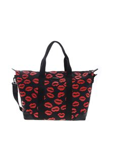 Lulu Guinness - Fiona Lip Blot bag in black and red