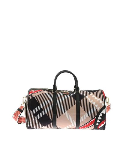 Sprayground - Shark in London bag in black and beige