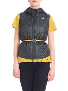 K-way - Reversible Coraline down jacket in black