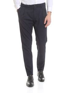 Aspesi - Blue pure cotton trousers