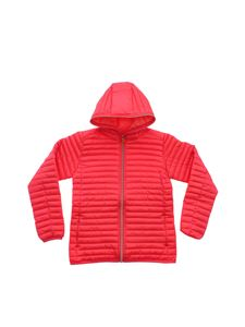 Save the duck - Hooded down jacket with coral red