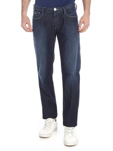 Emporio Armani - Jeans in cotone stretch blu scuro
