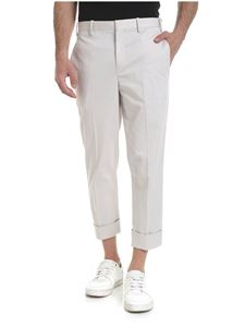 Neil Barrett - Linen trousers in ice-white