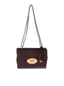 Mulberry - Lily shoulder bag in oxblood color