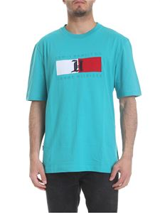 Tommy Hilfiger - Turquoise T-shirt with front logo