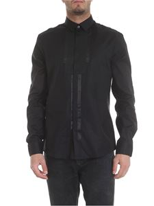 Les Hommes - Black shirt with grosgrain details