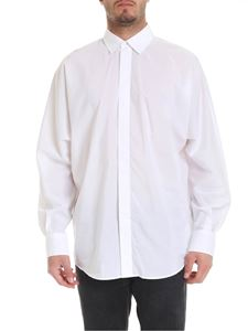 Les Hommes - White shirt with relaxed fit