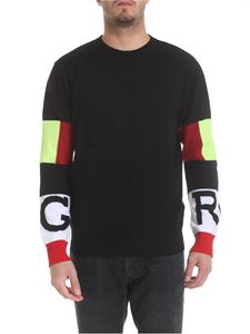 Iceberg - Black pullover with neon inserts