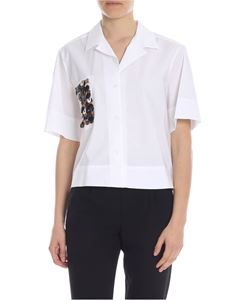 Dondup - White shirt with decorations