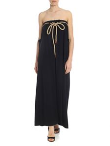 Erika Cavallini - Egle black dress with rope belt
