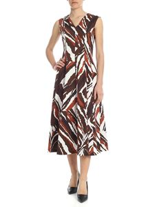 Erika Cavallini - Anna long dress in white and brown