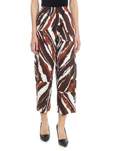 Erika Cavallini - Ilaria trousers in white and brown