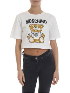 Moschino - Teddy Bear boxy t-shirt in cream color
