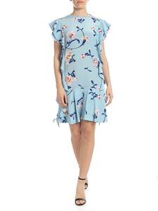 Ermanno Scervino - Silk dress in light blue with floral print