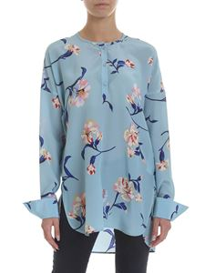 Ermanno Scervino - Serafino blouse in floral light blue silk