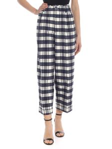 Jacob Cohën - Checked Esmeralda pants in blue and white