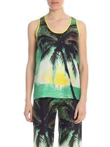 Parosh - Top in green and yellow with palms pattern