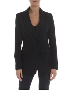 KI6? Who are you? - Jacket in black with peak lapels