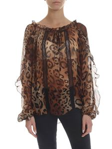 KI6? Who are you? - Blusa semi-trasparente animalier