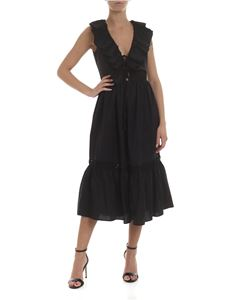 KI6? Who are you? - Long dress in black with ruffles
