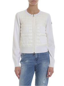 Moncler - Padded cardigan in white