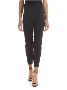 Elisabetta Franchi - Pant in black with logo chain