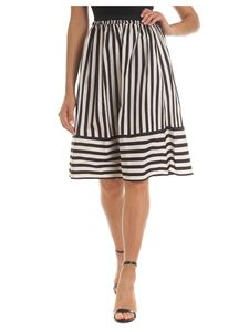 Twin-Set - Beige and black striped skirt