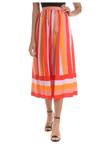 Twin-Set - Striped skirt in orange shades
