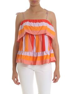 Twin-Set - Pink and red striped top