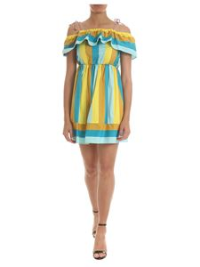 Twin-Set - Blue and yellow striped dress
