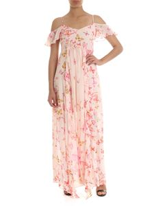 Twin-Set - Pink viscose dress with floral print