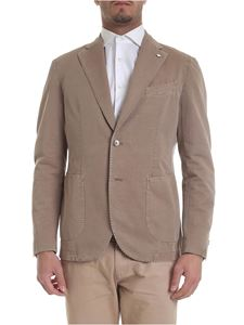 L.B.M. 1911 - Jacket in light brown with logo brooch