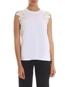 Twin-Set - White top with lace embroideries