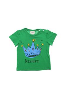 Gucci - Crown printed T-shirt in green