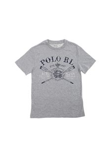 POLO Ralph Lauren - T-shirt in grey with front blue print