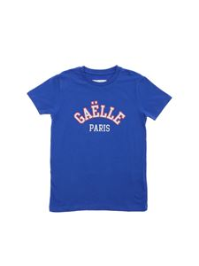 Gaelle Paris - T-shirt in electric blue with logo print