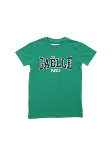 Gaelle Paris - T-shirt in green with Gaelle print