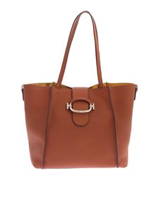 Tod's - Leather Double T Shopping Bag in brown