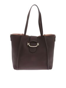 Tod's - Double T Shopping bag in brown leather