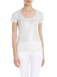 Majestic Filatures - Round neck t-shirt in silver lamè