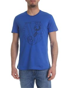 Versace Jeans - Blue t-shirt with Versace Jeans print