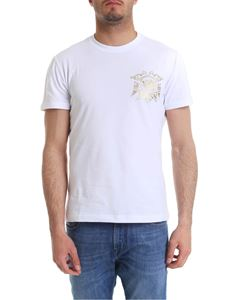 Versace Jeans - White t-shirt with golden logo print
