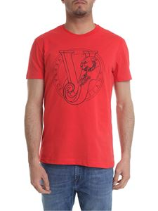 Versace Jeans - Red T-shirt with Versace Jeans print