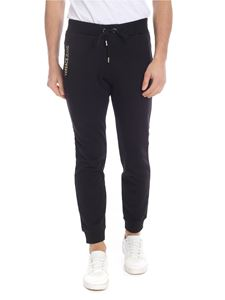 Versace Jeans - Black sweat pants with golden logo