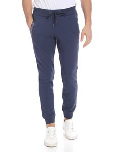 Versace Jeans - Blue sweat pants with silver logo